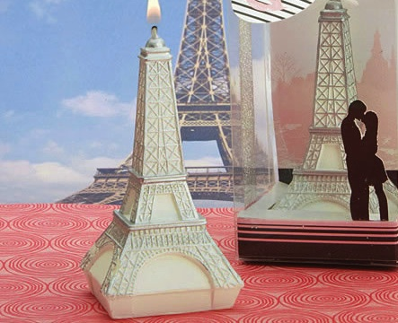 Love In Paris Collection Eiffel Tower Candles wedding favors