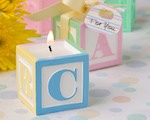 Adorable Baby Block Design Scented Candle Favors wedding favors