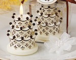 Fleur de Lis and Crown Design Cake Candles wedding favors