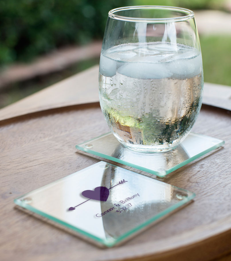 Personalized Glass Coasters wedding favors