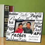Dad in Translation Frame wedding favors