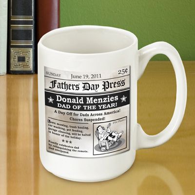 Fathers Day Headline Coffee Mug 15 Oz