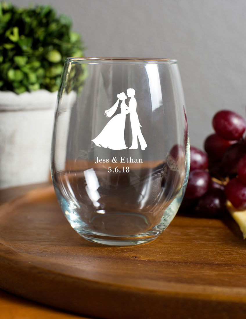 15 ounce stemless wine glasses With wedding favors wine glasses