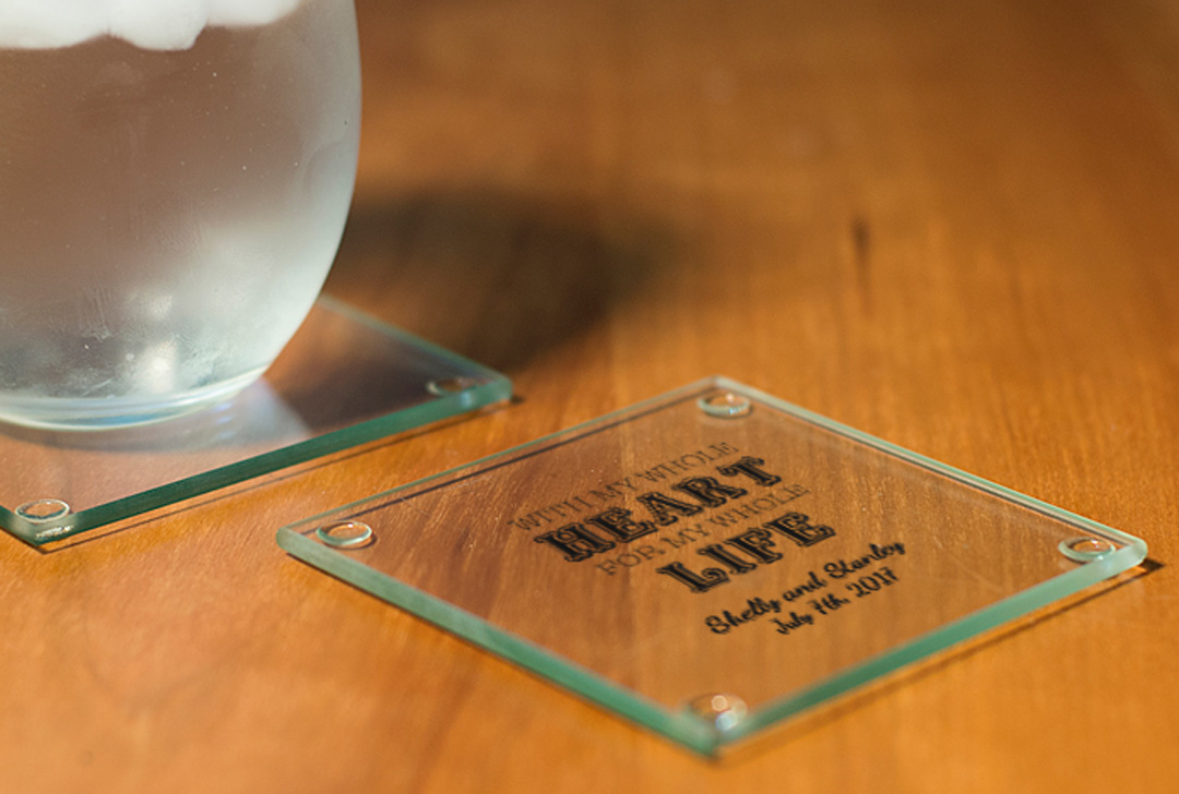Personalized Coasters wedding favors