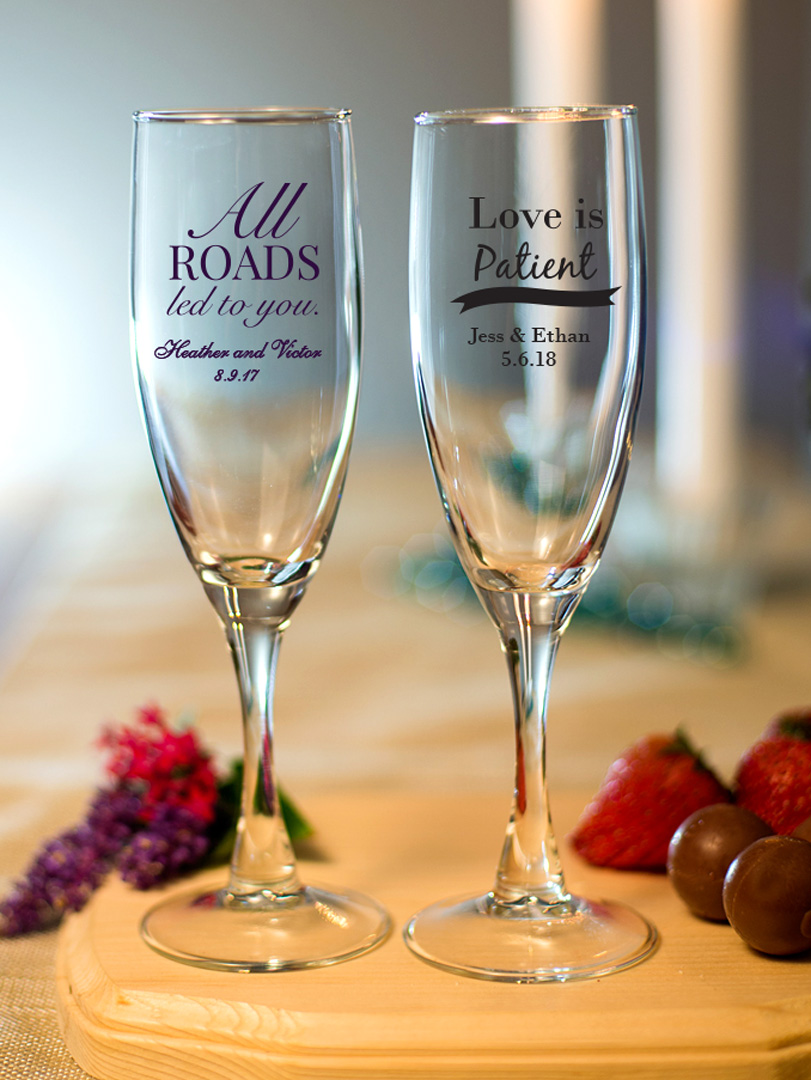 Champagne Flute favors for your wedding