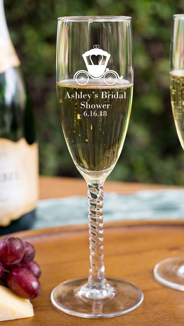 Champagne Flute With Twisted Stem favors for your wedding