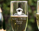 Champagne Flute With Twisted Stem wedding favors