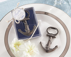 """Anchor"" Nautical-Themed Bottle Opener wedding favors"
