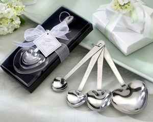 """Love Beyond Measure""  Heart-Shaped Measuring Spoons in Gift Box wedding favors"