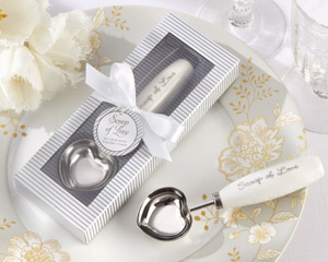 """Scoop of Love"" Stainless-Steel Ice Cream Scoop wedding favors"