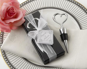 Chrome Heart Bottle Stopper in Showcase Display Box wedding favors