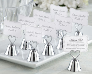 """Kissing Bell"" Place Card/Photo Holder wedding favors"