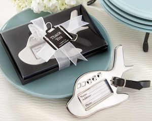 Airplane Luggage Tag in Gift Box with suitcase tag wedding favors