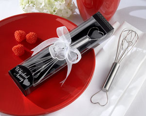 """Whisked Away"" Heart Whisk wedding favors"