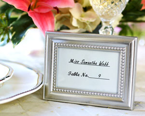 """Beautifully Beaded"" Photo Frame/Placeholder ""As seen in the hit movie 27 Dresses"" wedding favors"