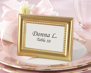 Beautifully Beaded Gold Photo Frame/Place Holder wedding favors