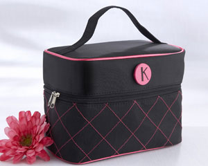 """The Cosmopolitan"" Monogrammed Cosmetic Travel Bag wedding favors"