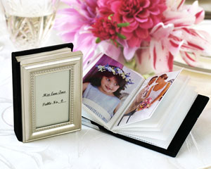 """Little Book of Memories"" Place Card Holder/Mini Photo Album wedding favors"
