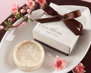 """Cherry Blossom"" Scented Soap wedding favors"