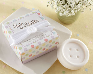 """Cute as a Button"" Scented Button Soap wedding favors"