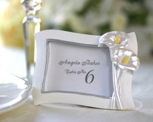 Swaying Calla Lily Pearlescent Place Card/ Photo Frame wedding favors