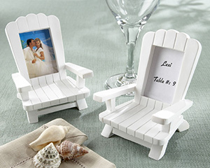 """Beach Memories""  Miniature Adirondack Chair Place Card/Photo Frame wedding favors"