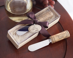 """Vintage Reserve"" Stainless-Steel Spreader with Wine Cork Handle wedding favors"