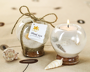 Sand and Shell Tealight Holder wedding favors