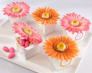 """Daisy Delight"" Gerbera Daisy Favor Box wedding favors"