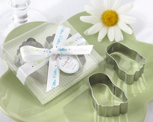 """Pitter-Patter of Little Feet"" Stainless-Steel Baby Footprint Cookie Cutters wedding favors"
