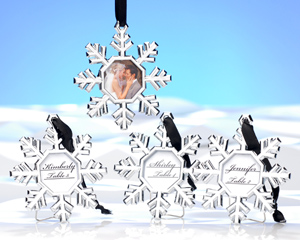 Snowflake Place Card Holder/Ornament wedding favors