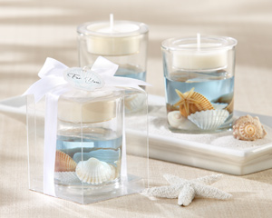 """Seashell"" Gel Tealight Holder wedding favors"