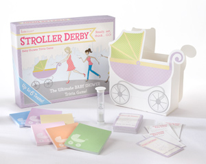 """Stroller Derby"" Baby Shower Trivia Game wedding favors"