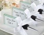 """Capture the Moment"" Glass Photo Holder Bottle Stopper wedding favors"