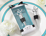 """Mr. & Mrs."" Chrome Ampersand Bottle Stopper wedding favors"
