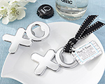 Hugs & Kisses from Mr. & Mrs. Chrome XO Bottle Opener wedding favors