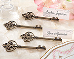 """Key To My Heart"" Victorian-Style Key Place Card Holder (Set of 4) wedding favors"