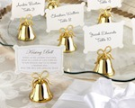 Gold Kissing Bells Place Card/Photo Holder (Set of 24) wedding favors