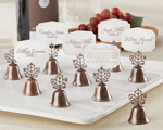 """Lustrous Leaf"" Kissing Bell Place Card/Photo Holder (Set of 24) wedding favors"