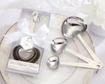 Measuring Spoon In White Box (3 spoons) wedding favors