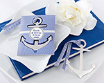 """Anchor"" Nautical-Theme Brushed-Metal Book Mark wedding favors"