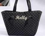 """Knotted Couture"" Personalized Quilted Tote Bag wedding favors"