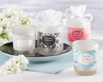 Personalized Frosted-Glass Votive (Minimum Order of 24) wedding favors