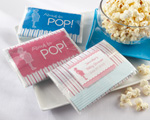 """About to Pop"" Microwave Popcorn Favor (Pink or Blue) wedding favors"
