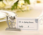 """LOVE"" Place Card Holder/Photo Holder with Matching Place Cards wedding favors"