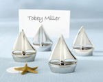 """Shining Sails"" Silver Place Card Holders wedding favors"