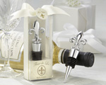 """Fleur-de-Lis"" Elegant Chrome Bottle Stopper wedding favors"