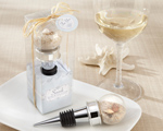 """Seaside"" Sand and Shell-Filled Globe Bottle Stopper wedding favors"