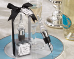 """La Tour Eiffel"" Chrome Bottle Stopper wedding favors"