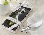 Fleur-de-Lis Chrome Spreader wedding favors